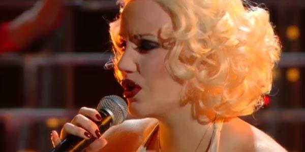 Tale e Quale Show Giulia Luzi imita Christina Aguilera