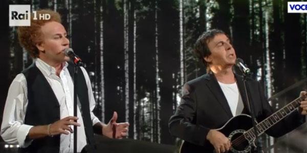 Tale e Quale Show Solenghi e Lopez imitano Simon Garfunkel