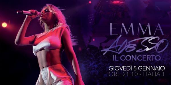 Emma: stasera 5 gennaio il concerto su Italia 1, scaletta e anticipazioni