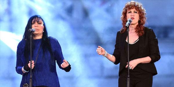 Amiche In Arena: stasera in tv il concerto di Loredana Bertè e Fiorella Mannoia