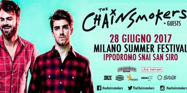 Biglietti The Chainsmokers concerto a Milano in giugno 2017