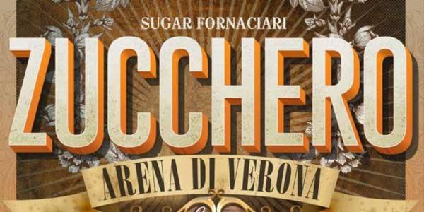 Bus concerti di Zucchero all'Arena di Verona in maggio 2017