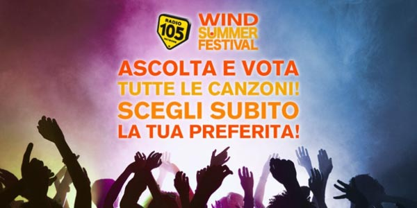 Wind Summer Festival 2018 come votare i cantanti in gara
