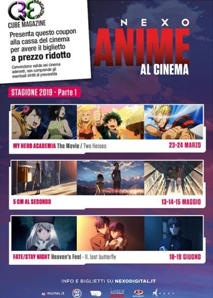 Anime al cinema 2019 sconto biglietti